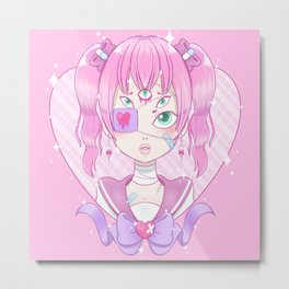 Sickly Quintclops Girl Metal Print