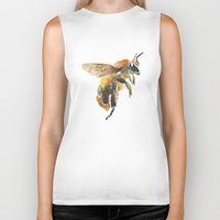 bee Biker Tanks featuring Bee by coconuttowers