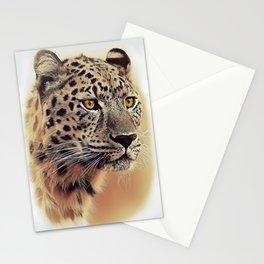 Leopard panthera portrait  Stationery Cards