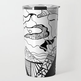 Zentangle Mountain Travel Mug