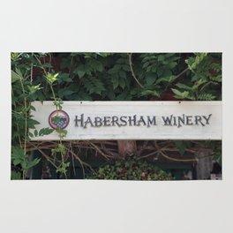 Habersham Winery Sign Rug