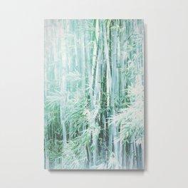Cool Blue Bamboo Metal Print