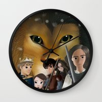 narnia Wall Clocks featuring Narnia by BellaG studio