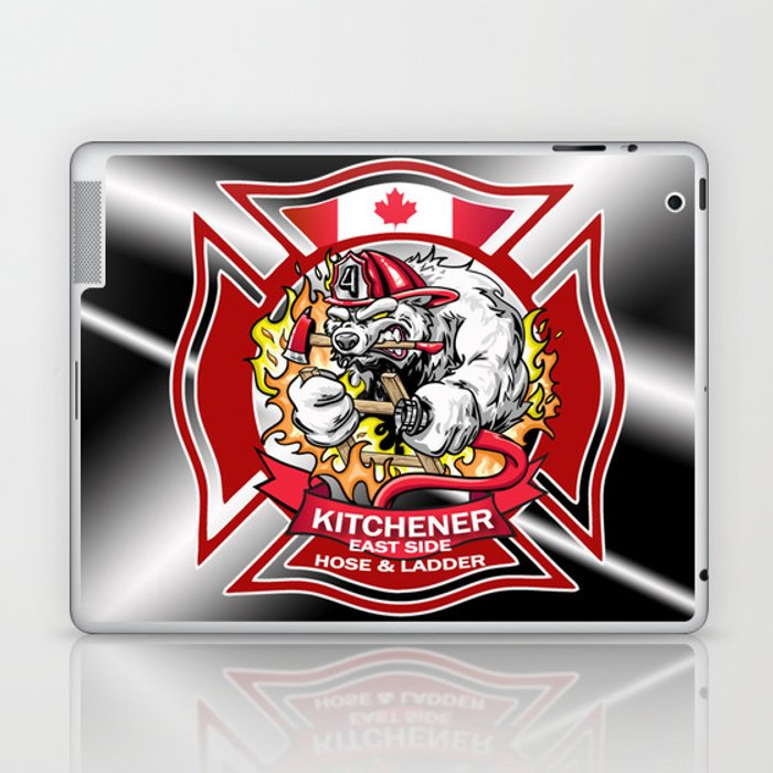 Kitchener East Side Hose & Ladder RED CREST Laptop & iPad Skin
