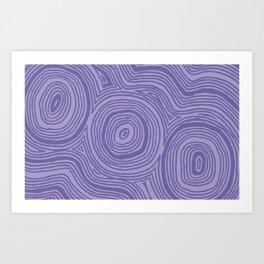 Purple Geo Art Print