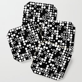 Playful Dots B&W Coaster