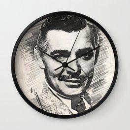 Clark Gable, Hollywood Legend Wall Clock