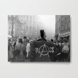Berlin Punk wearing Crass jacket Metal Print