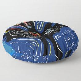 Black Angel Hope and Peace for All Street Art Graffiti Floor Pillow