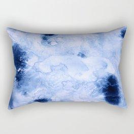 Marbled Water Blue Rectangular Pillow