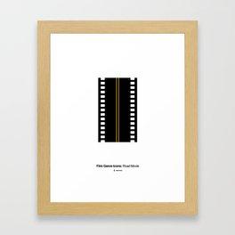 Road Movie Film Genre Icon Framed Art Print