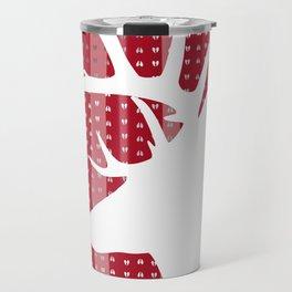 Eleghant Red Deer Holiday Design Travel Mug