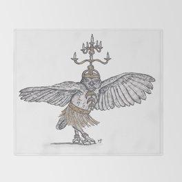 Tiny Dancer - Shamadan Owl Throw Blanket