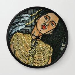 Beaded Dress * Nature Maiden Wall Clock