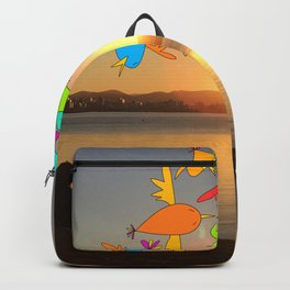 Sunset birds Backpack