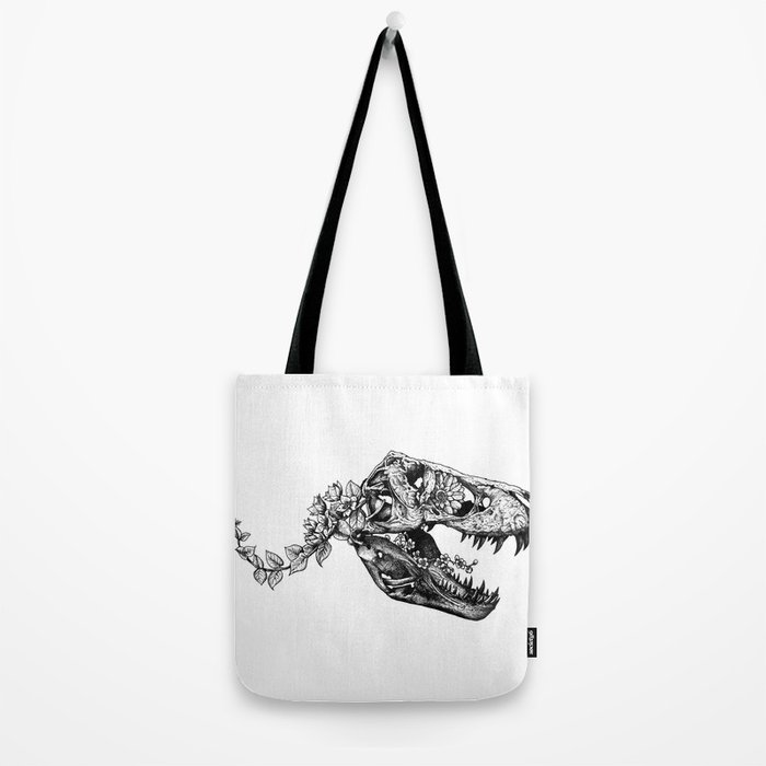 Jurassic Bloom - The Rex.  Tote Bag