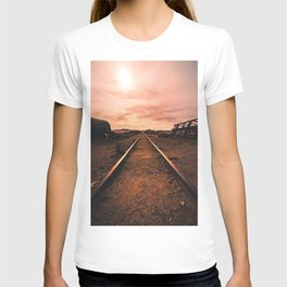 Train Tracks in the Desert T-shirt