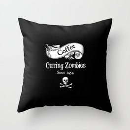 Curing Zombies Throw Pillow