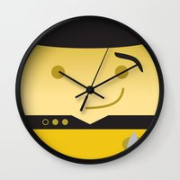 data Wall Clocks featuring Mr. Data by Sam Del Valle