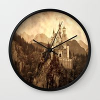 lichtenstein Wall Clocks featuring Lichtenstein Castle by Dan99
