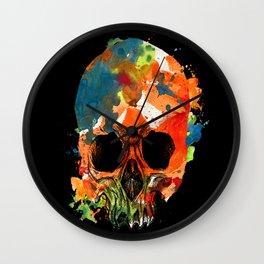 water color skull Wall Clock