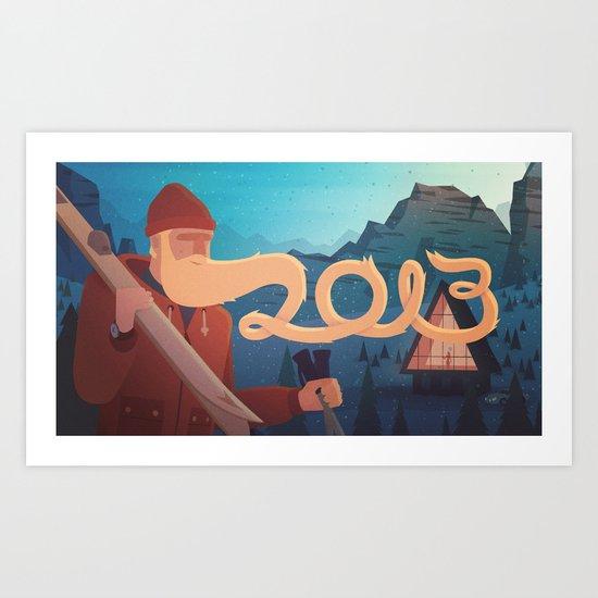 Golden Beard - 2013 Greetings Art Print