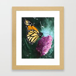 Butterfly - Soft Awakening - by LiliFlore Framed Art Print