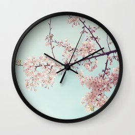 Spring happiness Wall Clock