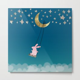 Swingin' with the Moon Metal Print