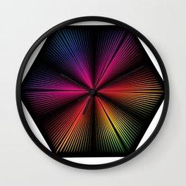RainbowFlower Wall Clock