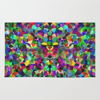 kaleidoscope Area & Throw Rugs featuring Kaleidoscope  by Glanoramay