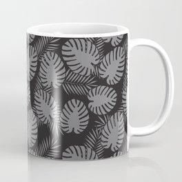 Tropical Print Grey & Black Coffee Mug
