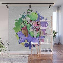 Yoshi and Baby Yoshi Wall Mural
