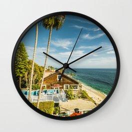 Sunny Summer Day 5533 Laguna Beach Wall Clock