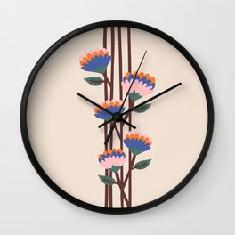 Henri Flowers Wall Clock