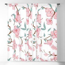 Creepy Flowers Pattern Blackout Curtain
