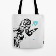 ram skull and diamonds Tote Bag