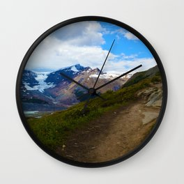 Athabasca & Snowdome Glaciers in Jasper National Park, Canada Wall Clock