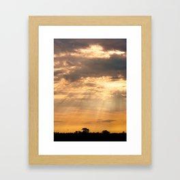 African Summer Sunset 2 Framed Art Print