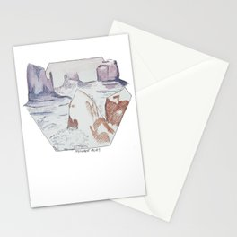 Winter in Monument Valley Stationery Cards