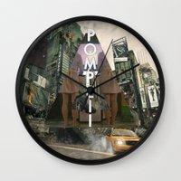 bastille Wall Clocks featuring Bastille - Pompeii by Thafrayer