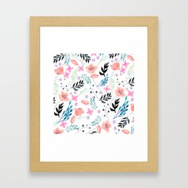 Sweet Floral Watercolor Framed Art Print