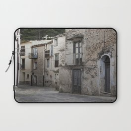 Sicilian Alley in Caltabellotta Laptop Sleeve