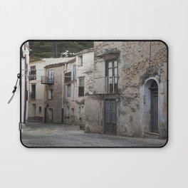 Sicilian Alley in Caltabellotta Laptop Sleeve