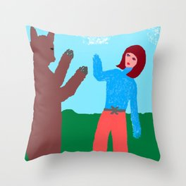 TIME S UP-solidarity to women who endured sexual harassment Throw Pillow