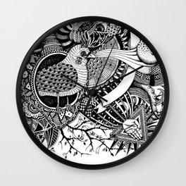 Blackbird's heart l Wall Clock