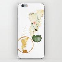 polar bear iPhone & iPod Skins featuring Oso polar - Polar bear by Nadia Engelhard
