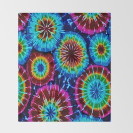 Tie Dye Throw Blanket
