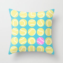 A Pink Tennis Ball in the Rough Throw Pillow