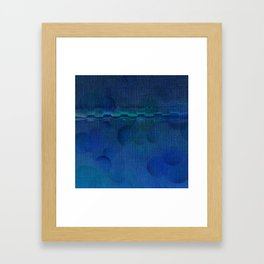 Dark Navy Blue Textured Abstract Framed Art Print